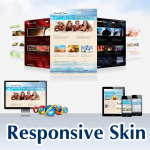 Mobile/Responsive Skin Pack 60072SeaBlue*6 Colors*Social Groups*Mega Menu*For Any Websites*DNN6/7.x